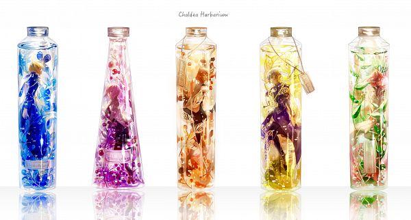 Tags: Anime, Pixiv Id 10337288, Fate/Grand Order, Saber (Fate/stay night), Romani Akiman, Joan of Arc (Fate/Apocrypha), Mash Kyrielight, Gudako, Shielder (Fate/Grand Order), In a Bottle, Fanart, Fanart From Pixiv, Pixiv