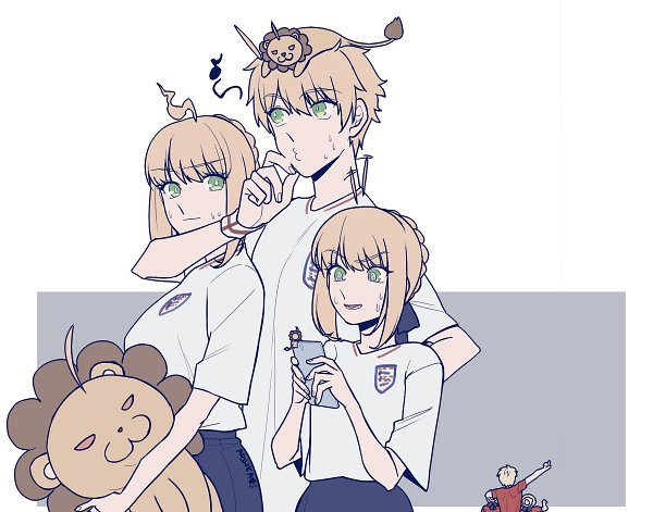 Tags: Anime, Pixiv Id 5084342, Fate/Grand Order, Saber (Fate/Prototype), Saber Alter, Saber (Fate/stay night), Saber Lion, Lancer (Artoria Pendragon), Lancer Alter, Lion Costume