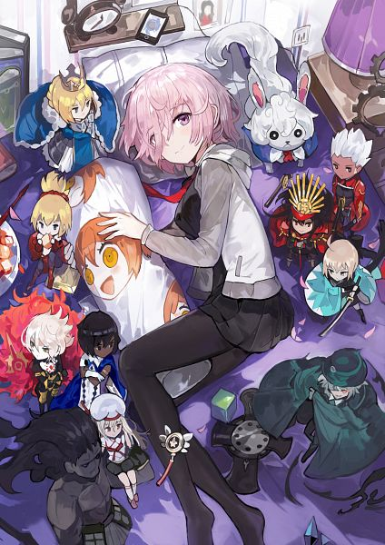 Tags: Anime, Alchemaniac, Fate/Grand Order, Shielder (Fate/Grand Order), Red Saber, Archer (Fate/Grand Order), Berserker (Fate/stay night), Red Lancer, Fou (Fate/Grand Order), Archer (Fate/stay night), Sakura Saber, Mash Kyrielight, Saber (Fate/stay night)