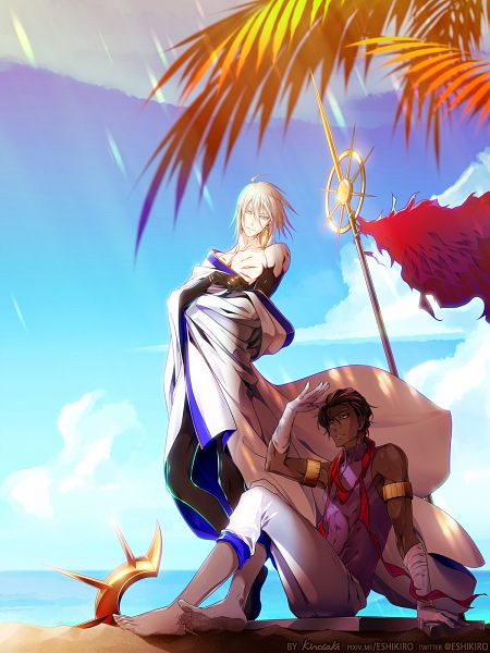Tags: Anime, SepherlutZ, Fate/Grand Order, Red Lancer, Archer (Fate/Grand Order), Fanart From Pixiv, Pixiv, Fanart