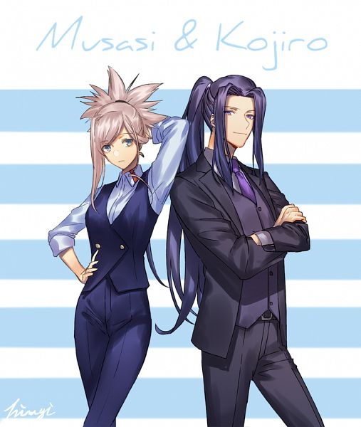 Tags: Anime, Pixiv Id 2912049, Fate/Grand Order, Saber (Miyamoto Musashi), Assassin (Fate/stay night), Pixiv, Fanart, Fanart From Pixiv