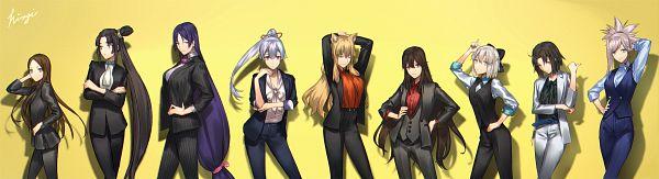 Tags: Anime, Pixiv Id 2912049, Fate/Grand Order, Saber (Fate/EXTRA CCC Fox Tail), Ryougi Shiki, Berserker (Minamoto no Yorimitsu), Sakura Saber, Archer Inferno, Majin Archer, Berserker (Chacha), Rider (Fate/Grand Order), Saber (Miyamoto Musashi), Fanart