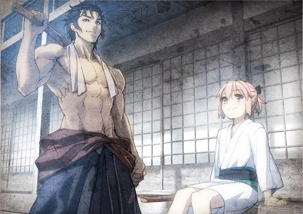 Tags: Anime, YahaKo, Fate/Grand Order, Sakura Saber, Berserker (Hijikata Toshizou), Shinai