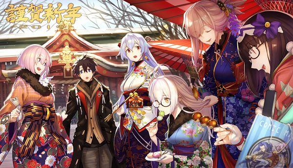 Tags: Anime, tef, Fate/Grand Order, Assassin (Osakabehime), Mash Kyrielight, Archer Inferno, Ritsuka Fujimaru, Berserker (Mysterious Heroine X Alter), Shielder (Fate/Grand Order), Saber (Fate/stay night), Saber (Miyamoto Musashi), Fou (Fate/Grand Order), Pixiv