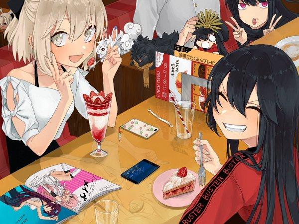 Tags: Anime, ISHIDAUMI, Fate/Grand Order, Majin Archer, Fou (Fate/Grand Order), Oryuu (Koha-Ace), Sakura Saber, Mini Nobu