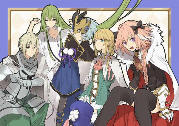 Tags: Anime, No-kan, Fate/Grand Order, Saber (Chevalier d'Eon), Lancer (Fate/strange fake), Saber (Lanling Wang), Bedivere (Fate/stay night), Pixiv, Fanart, Fanart From Pixiv