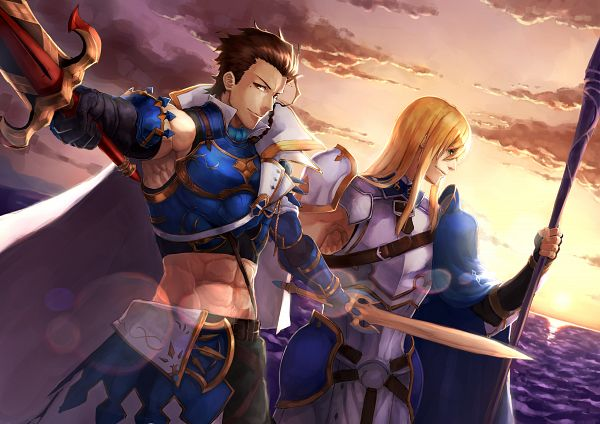 Tags: Anime, Pixiv Id 3069980, Fate/Grand Order, Lancer (Fate/zero), Lancer (Fionn Mac Cumhaill), Fionn Mac Cumhaill, Saber (Diarmuid Ua Duibhne), Fanart From Pixiv, Pixiv, Fanart