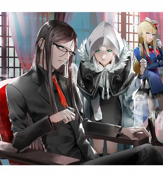 Tags: Anime, Pixiv Id 3432065, Lord El-Melloi II-sei no Jikenbo, Fate/Grand Order, Waver Velvet, Reines El-Melloi Archisorte, Lord El-Melloi II, Gray (Lord El-Melloi II Case Files), Fanart From Pixiv, Pixiv, Fanart