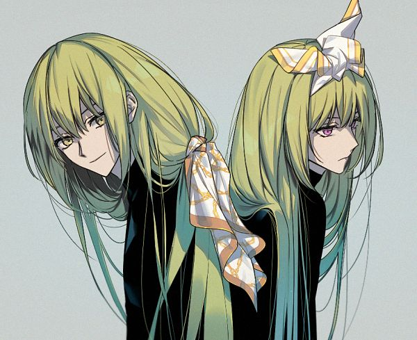 Tags: Anime, Pixiv Id 32335758, Fate/Grand Order, Lancer (Fate/strange fake), Kingu, Fanart From Pixiv, Pixiv, Fanart