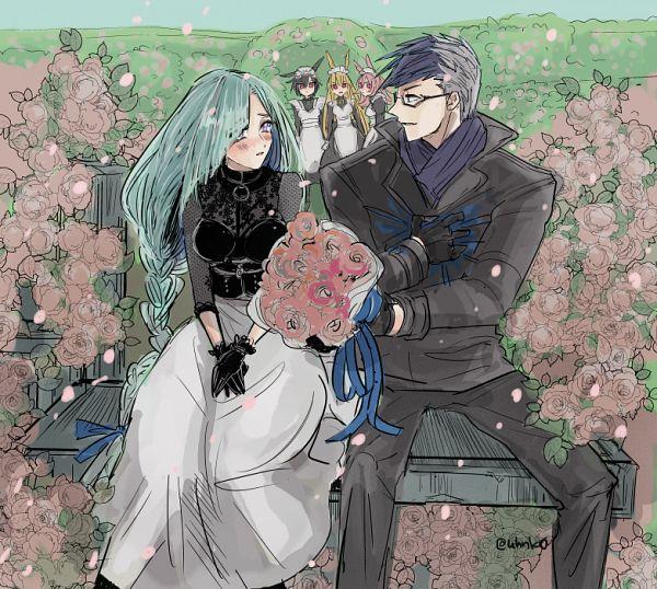 Tags: Anime, Pixiv Id 922918, Fate/Grand Order, Lancer (Fate/Prototype: Sougin no Fragments), Lancer (Thrud), Lancer (Ortlinde), Lancer (Valkyrie), Saber (Sigurd), Lancer (Hildr), Fanart, Fanart From Pixiv, Pixiv