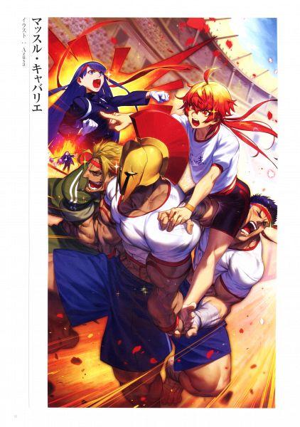 Tags: Anime, Azusa (hws), DELiGHTWORKS, Fate/Grand Order Memories II, Fate/Grand Order, Rider (Saint Martha), Lancer (Leonidas), Saber (Rama), Berserker (Beowulf), Saber (Fergus mac Róich), Scan, Official Art
