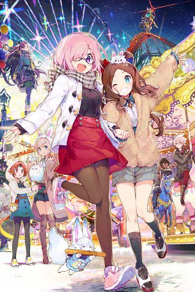Tags: Anime, Namie-kun, DELiGHTWORKS, Fate/Grand Order, Red Lancer, Shielder (Fate/Grand Order), Rider (Da Vinci-chan), Caster (Leonardo da Vinci), Archer (Fate/Grand Order), Saber (Miyamoto Musashi), Fou (Fate/Grand Order), Tohsaka Rin, Archer (Ishtar)