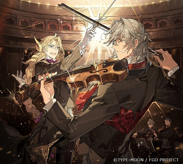 Tags: Anime, STAR Shadow Magician, Fate/Grand Order, Ruler (Sherlock Holmes), Caster (Wolfgang Amadeus Mozart), Assassin (Charles-Henri Sanson), Avenger (Antonio Salieri), Fate/Grand Order Orchestra, Lofter, Official Art