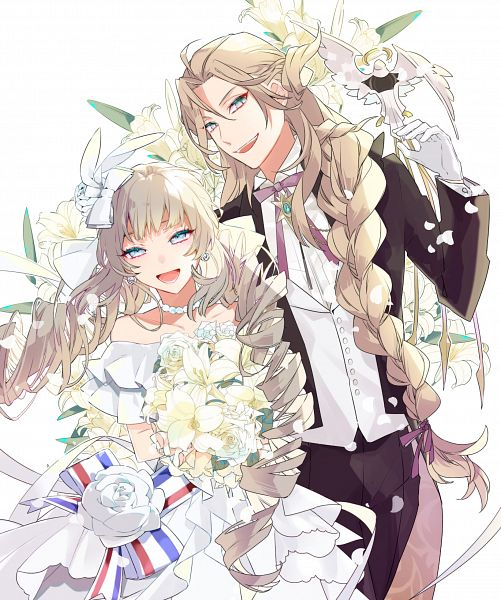 Tags: Anime, Pixiv Id 12989797, Fate/Grand Order, Rider (Marie Antoinette), Caster (Wolfgang Amadeus Mozart), Fanart, Fate/Grand Order Orchestra, Fanart From Pixiv, Pixiv