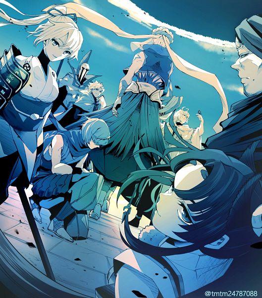 Tags: Anime, Pixiv Id 4739473, Fate/Grand Order, Kotomine Shirou (Fate/Apocrypha), Lancer (Romulus), Lancer (Musashibo Benkei), Merlin (Fate/stay night), Archer Inferno, Rider (Fate/Grand Order), Gilgamesh, Caster (Gilgamesh), Assassin (Fuuma Kotarou), Fanart