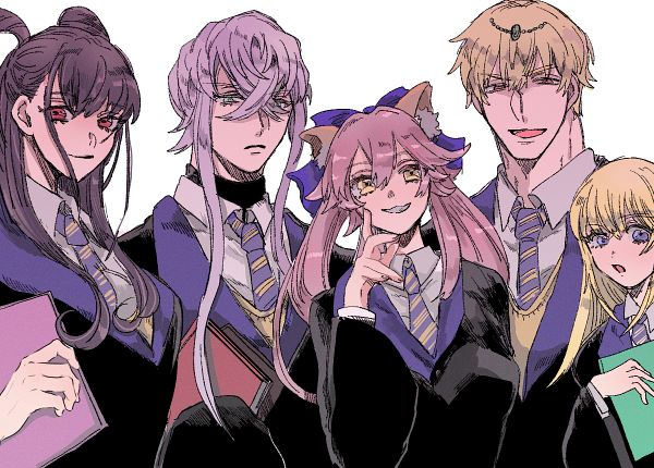 Tags: Anime, Pixiv Id 3731902, Fate/Grand Order, Caster (Gilgamesh), Caster (Fate/EXTRA), Caster (Asclepius), Saber (Chevalier d'Eon), Gilgamesh, Caster (Murasaki Shikibu), Ravenclaw (Cosplay), Harry Potter (Cosplay), Fanart, Pixiv