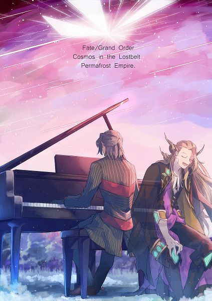Tags: Anime, Pixiv Id 2403500, Fate/Grand Order, Caster (Wolfgang Amadeus Mozart), Avenger (Antonio Salieri), Transparent Body, Playing Piano, Pixiv, Fanart, FGO Iracon 4, Fanart From Pixiv