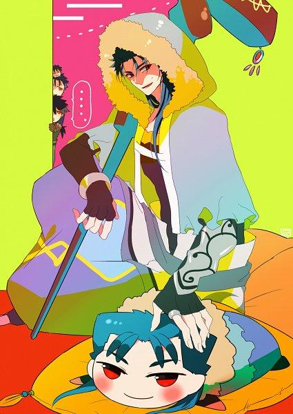 Tags: Anime, Pixiv Id 3723391, Fate/Prototype, Fate/Grand Order, Fate/stay night, Lancer (Fate/stay night), Lancer (Fate/Prototype), Caster (Cú Chulainn)