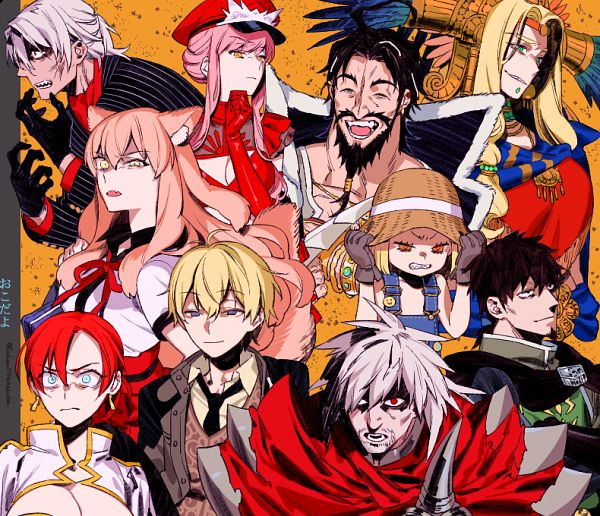 Tags: Anime, Sara (kurome1127), Fate/Grand Order, Rider (Medb), Avenger (Antonio Salieri), Lancer (Hector), Berserker (Manga de Wakaru! FGO), Rider (Edward Teach), Lancer (Fate/EXTRA), Rider (Quetzalcoatl), Rider (Boudica), Archer (Billy the Kid), Saber (Fate/EXTRA CCC Fox Tail)