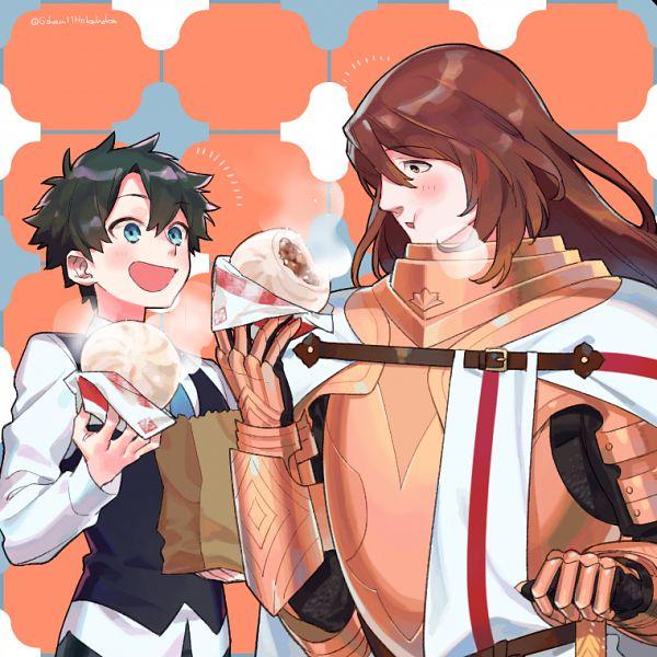 Tags: Anime, Sara (kurome1127), Fate/Grand Order, Ritsuka Fujimaru, Rider (Saint George), Pixiv, Fanart, Fanart From Pixiv