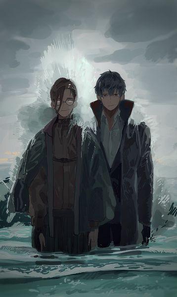Tags: Anime, Pixiv Id 5884229, Fate/Grand Order, Saber (Saitou Hajime), Yamanami Keisuke (Fate/Grand Order), Pixiv, Fanart, Fanart From Pixiv
