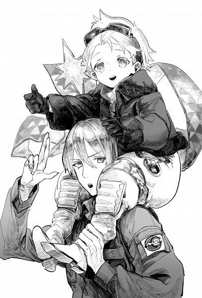Tags: Anime, Pixiv Id 5884229, Fate/Grand Order, Jason (Fate/Grand Order), Saber (Jason), Voyager (Fate/Requiem), Pixiv, Fanart, Fanart From Pixiv