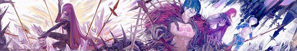 Tags: Anime, Pixiv Id 10831655, Fate/Grand Order, Caster (Scathach Skadi), Berserker (Cú Chulainn Alter), Lancer (Fate/stay night), Lancer (Fate/Grand Order), Fanart From Pixiv, Pixiv, Fanart