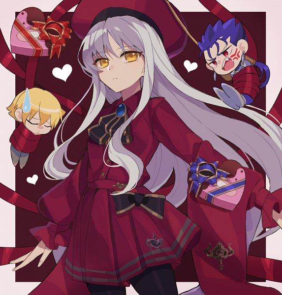 Tags: Anime, Pixiv Id 585430, Fate/Grand Order, Caren Hortensia, Lancer (Fate/stay night), Ko-gil, Amor (Caren), Gilgamesh, Pixiv, Fanart From Pixiv, Fanart