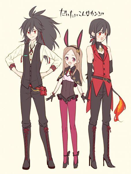 Tags: Anime, Uncle Ri Kodama, Fate/Grand Order, Berserker (Chacha), Majin Archer, Avenger (Oda Kippoushi), Avenger (Maou Nobunaga), Oda Nobukatsu (Fate/Grand Order), Pixiv, Fanart, Fanart From Pixiv