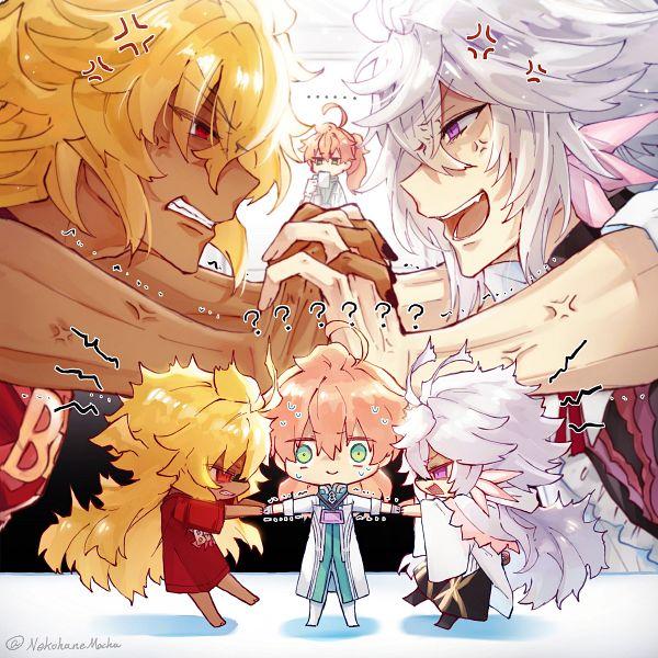 Tags: Anime, Pixiv Id 3244589, Fate/Grand Order, Goetia (Fate/Grand Order), Merlin (Fate/stay night), Romani Akiman, Fanart, Fanart From Pixiv, Pixiv