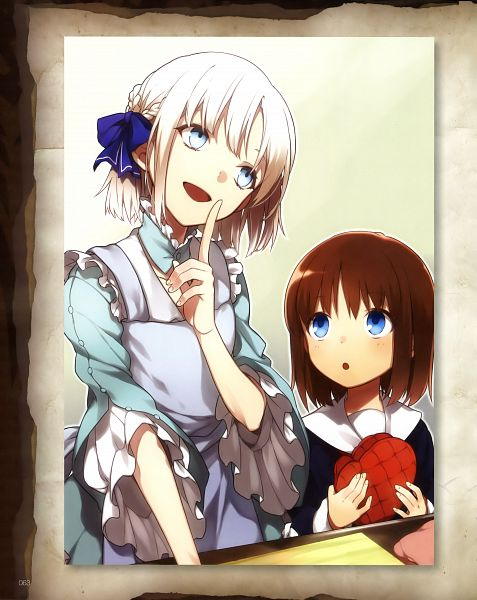 Tags: Anime, Nakahara (Pixiv208060), TYPE-MOON, Fate/Prototype: Sougin no Fragments, Sajyou Ayaka, Sajyou Manaka, Official Art, Scan