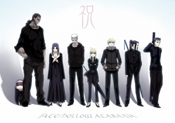 Tags: Anime, Puyo, TYPE-MOON, Fate/hollow ataraxia, Gilgamesh, Caster (Fate/stay night), Berserker (Fate/stay night), Lancer (Fate/stay night), Saber (Fate/stay night), Rider (Fate/stay night), Assassin (Fate/stay night), Archer (Fate/stay night), Koukaku Kidoutai GHOST IN THE SHELL (Parody)