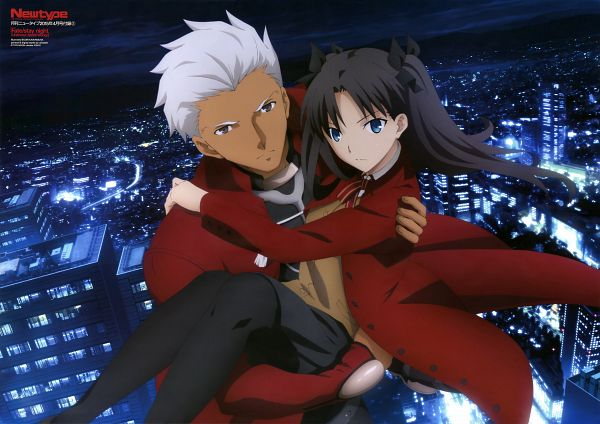 Tags: Anime, ufotable, Fate/stay night: Unlimited Blade Works, Fate/stay night, Archer (Fate/stay night), Tohsaka Rin, Magazine (Source), Newtype Magazine (Source), Scan, Official Art