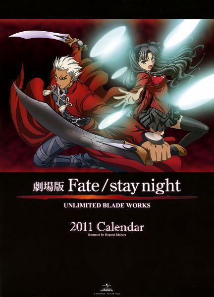 Tags: Anime, Ishihara Megumi, Studio DEEN, Fate/stay night: Unlimited Blade Works, Gekijouban Fate/stay night: Unlimited Blade Works 2011 Calendar, Fate/stay night, Tohsaka Rin, Archer (Fate/stay night), Scan, Calendar 2011, Official Art, Calendar (Source)