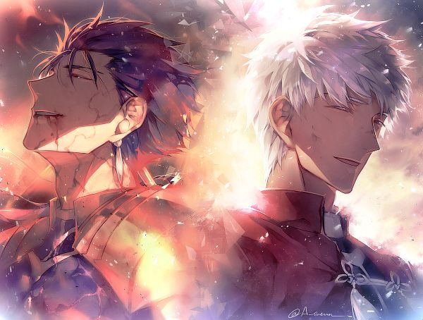 Tags: Anime, hgsueun, Fate/stay night: Unlimited Blade Works, Fate/stay night, Archer (Fate/stay night), Lancer (Fate/stay night), Knight