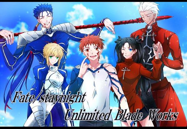 Tags: Anime, Pixiv Id 743604, Fate/stay night: Unlimited Blade Works, Fate/stay night, Saber (Fate/stay night), Tohsaka Rin, Lancer (Fate/stay night), Emiya Shirou, Archer (Fate/stay night)