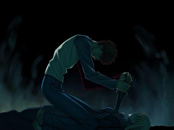 Tags: Anime, Takeuchi Takashi, TYPE-MOON, Fate/stay night, Saber (Fate/stay night), Saber Alter, Emiya Shirou, CG Art