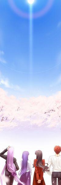 Tags: Anime, Takeuchi Takashi, TYPE-MOON, Fate/stay night, Tohsaka Rin, Rider (Fate/stay night), Emiya Shirou, Matou Sakura, CG Art