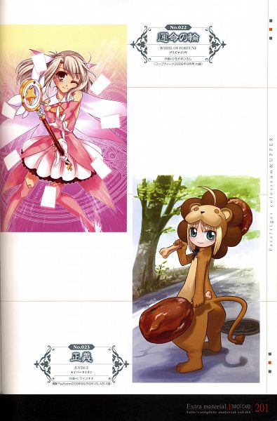 Tags: Anime, Hiroyama Hiroshi, Hirai Yukio, TYPE-MOON, Fate/kaleid liner PRISMA ☆ ILLYA, Fate/Complete Material IV, Fate/tiger colosseum, Saber (Fate/stay night), Illyasviel von Einzbern, Prisma Illya, Saber Lion, Lion Costume, Official Art
