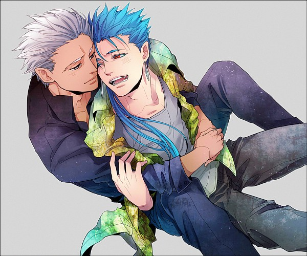 Tags: Anime, Sirou69, TYPE-MOON, Fate/stay night, Archer (Fate/stay night), Lancer (Fate/stay night), Fanart From Pixiv, Pixiv, Fanart