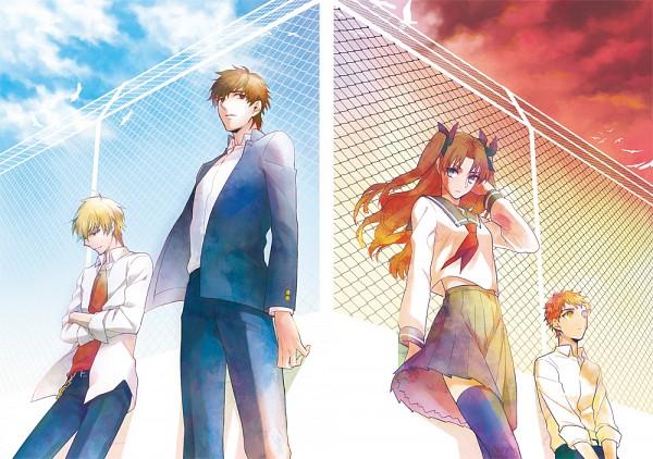Tags: Anime, Yuujin (iXS), TYPE-MOON, Fate/zero, Fate/stay night, Tohsaka Rin, Gilgamesh, Emiya Shirou, Kotomine Kirei, Fanart, Fanart From Pixiv, Pixiv