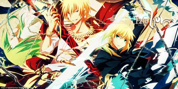Tags: Anime, Pixiv Id 369216, Fate/strange fake, Fate/zero, Fate/stay night, Saber (Fate/stay night), Gilgamesh, Lancer (Fate/strange fake), Facebook Cover, Pixiv