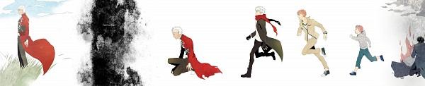 Tags: Anime, Sukumaraku, Fate/zero, Fate/EXTRA, Fate/stay night, Emiya Shirou, Archer (Fate/stay night), Emiya Kiritsugu, Age Progression, Fanart, Fanart From Pixiv, Pixiv