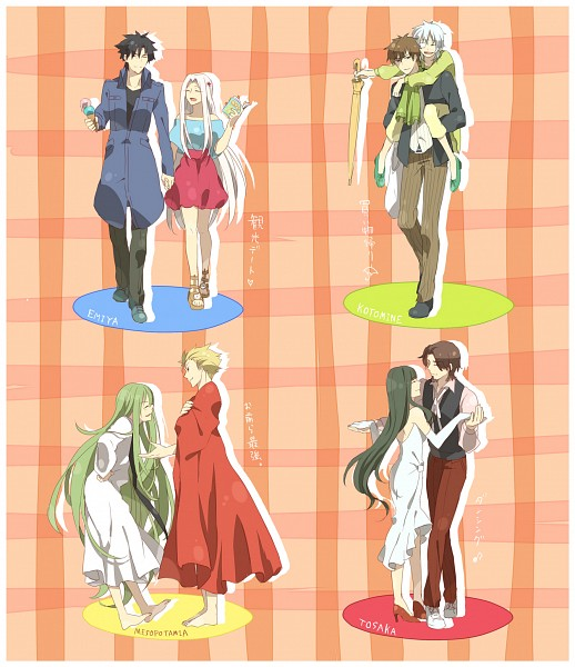 Tags: Anime, Syun (GARPIKE), TYPE-MOON, Fate/zero, Fate/strange fake, Fate/stay night, Lancer (Fate/strange fake), Irisviel von Einzbern, Gilgamesh, Ortensia Claudia, Kotomine Kirei, Emiya Kiritsugu, Tohsaka Aoi