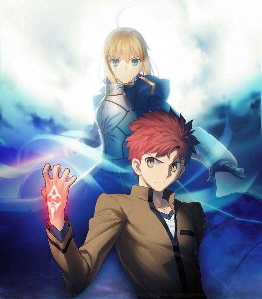 Tags: Anime, TYPE-MOON, Fate/stay night, Saber (Fate/stay night), Emiya Shirou, Command Seal, Official Art