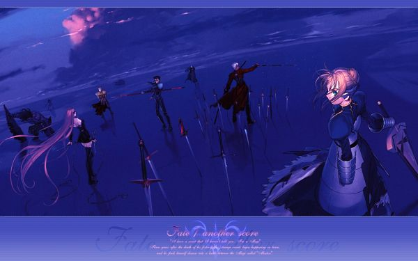 Tags: Anime, Koyama Hirokazu, TYPE-MOON, Fate/stay night, Assassin (Fate/stay night), Lancer (Fate/stay night), True Assassin, Saber (Fate/stay night), Archer (Fate/stay night), Rider (Fate/stay night), Gilgamesh, Berserker (Fate/stay night), Caster (Fate/stay night)