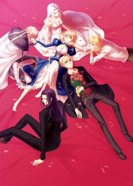 Tags: Anime, kanmuri, TYPE-MOON, Fate/Prototype, Fate/zero, Fate/stay night, Gilgamesh, Berserker (Fate/zero), Saber (Fate/Prototype), Saber (Fate/stay night), Irisviel von Einzbern, Bedivere (Fate/stay night), Mobile Wallpaper