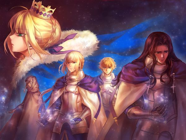 Tags: Anime, kanmuri, Fate/zero, Fate/EXTRA, Fate/stay night, Saber (Gawain), Bedivere (Fate/stay night), Saber (Fate/stay night), Merlin (Fate/stay night), Berserker (Fate/zero), Pixiv, Fanart From Pixiv, Fanart