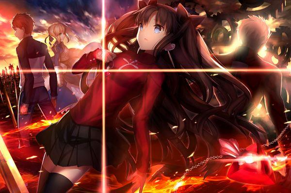 Tags: Anime, Shima Shinoji, Fate/stay night, Caster (Fate/stay night), Berserker (Fate/stay night), Saber (Fate/stay night), Lancer (Fate/stay night), Tohsaka Rin, Emiya Shirou, Archer (Fate/stay night), Gilgamesh, PNG Conversion