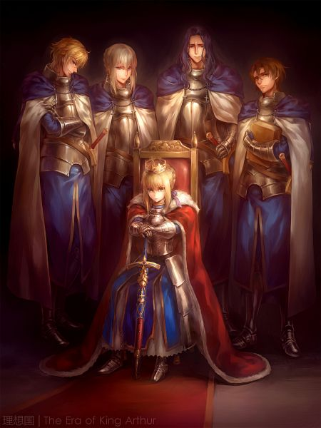Tags: Anime, kanmuri, Fate/zero, Fate/EXTRA, Fate/hollow ataraxia, Fate/stay night, Saber (Gawain), Bedivere (Fate/stay night), Berserker (Fate/zero), Saber (Fate/stay night), Kay, Caliburn, Reverse Harem